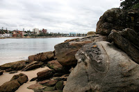 Looking back towards Manly beach