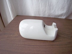 White tape dispenser by Apollo