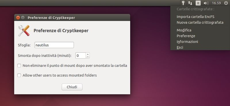 Cryptkeeper in Ubuntu