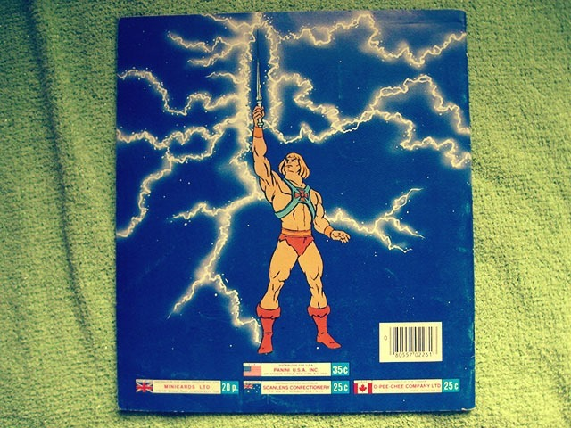 Masters Of The Universe Sticker Book Back