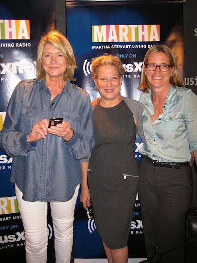 Martha (with Bette Midler and NYRP's executive director, Amy Freitag), tweeting about the show.