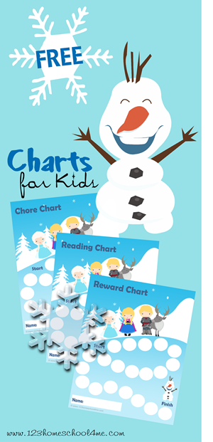 Free Disney Frozen Chore, Reading, and Reward Chart for Kids