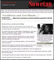 BlackRacistArticle_Sowetan_YouKilledMyUncleTerreBlancheApr82010
