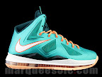 nike lebron 10 gr miami dolphins 1 01 Gallery: Nike LeBron X Miami Setting or Dolphins if you Like