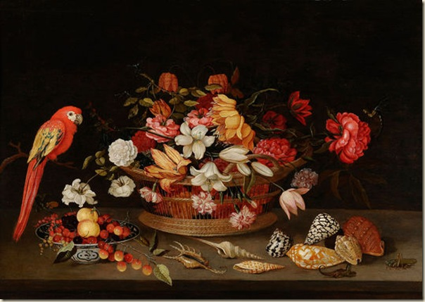 Nature morte au perroquet