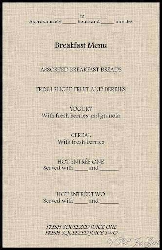 Breakfast Menu Template  Breakfast Menu Template