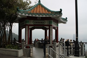 a pagoda on top of the mountain