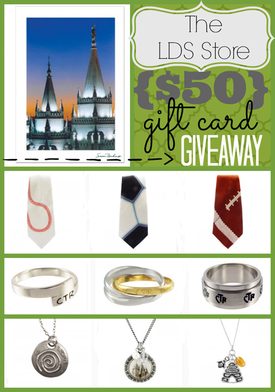 $50 Gift Card Giveaway to TheLDSStore.com at GingerSnapCrafts.com #lds #spon