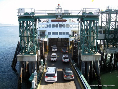 Cars onto Ferry