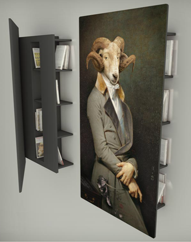 ibride art animal bookshelf interior design