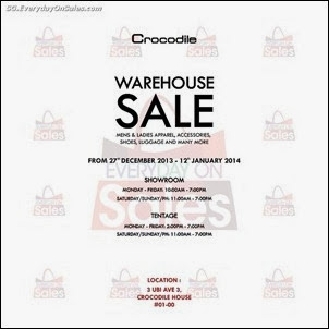 Crocodile Warehouse Sale Singapore Jualan Gudang EverydayOnSales Offers Buy Sell Shopping