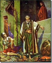 Peter, right after denying Christ.