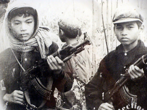 Child soldiers of Khmer Rhouge around 1977