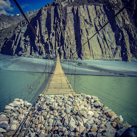 Passu Hunza Crossing bridge by Aay Bee - Buildings & Architecture Bridges & Suspended Structures