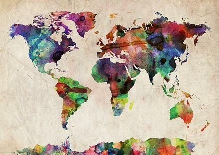 Världskarta, Pinterest 1