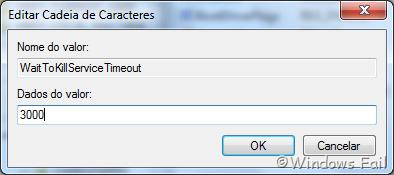 Modifique o número na caixa Dados do valor e coloque, por exemplo, 3000 e clique em Ok