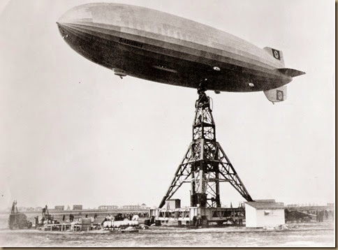 Hindenburg moments before fire