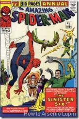 The amazing spider-man annual #01, yo creo que nadie tenia idea de la magnitud de lo que habian creado para este especial del aracnido, bienvenidos para la fundacion de los seis siniestros.