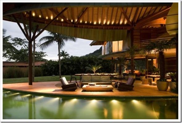 casa folha varanda