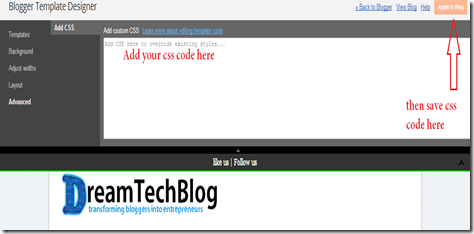 Add css code to blogger by two methods