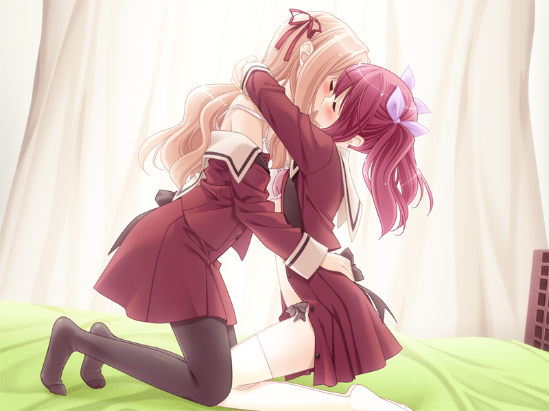 Nanami Yuuna A Kiss for the Petals yuri visual novel