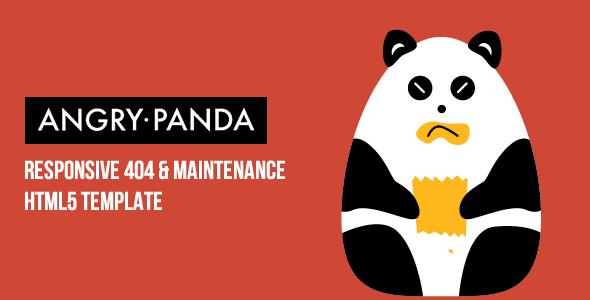 Premium 404 html templates angrypanda responsive 404 angrypanda responsive 404 maintenance template 404 pages specialty pages maxwellsz