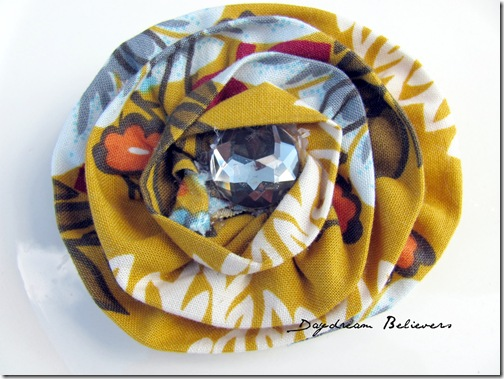 handmade hairclip and brooch