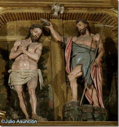 San Juan Bautista y Cristo - Retablo de los Santos Juanes - Estella