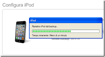 Ripristino iPod / iPhone da backup