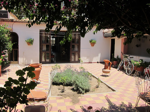 The courtyard at our hostel.
