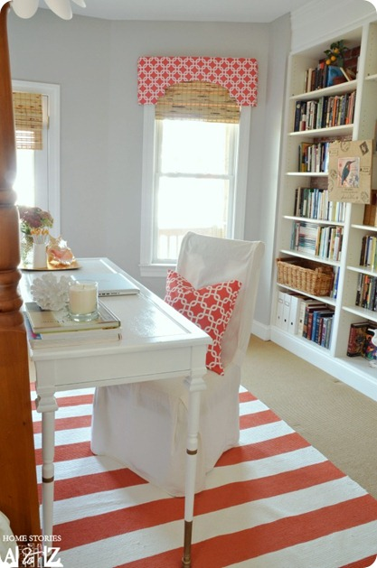 Gray and coral room