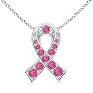 Round Pink Sapphire Hope Pendant