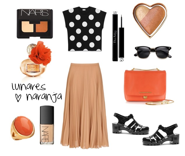 lunares con naranja