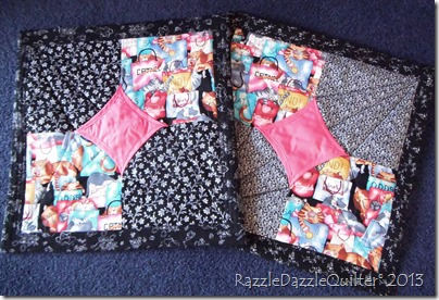 Ten minute quilt block cushion