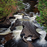 Presque Isle River in the Porcupine Mountains Wilderness Area of Upper MI. This river empties in to Lake Superior just a short distance from this location.