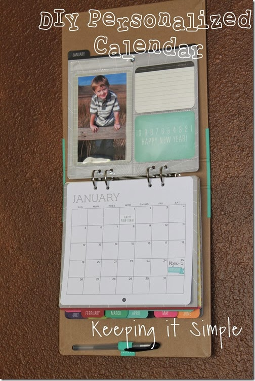 Diy Calendar Gift Ideas : Keeping it simple diy personalized calendar giftsatmichaels