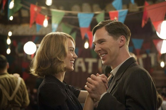 Keira Knightley and benedict Cumberbatch in The Imitation Game