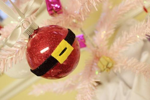 Glitter Santa Ornament