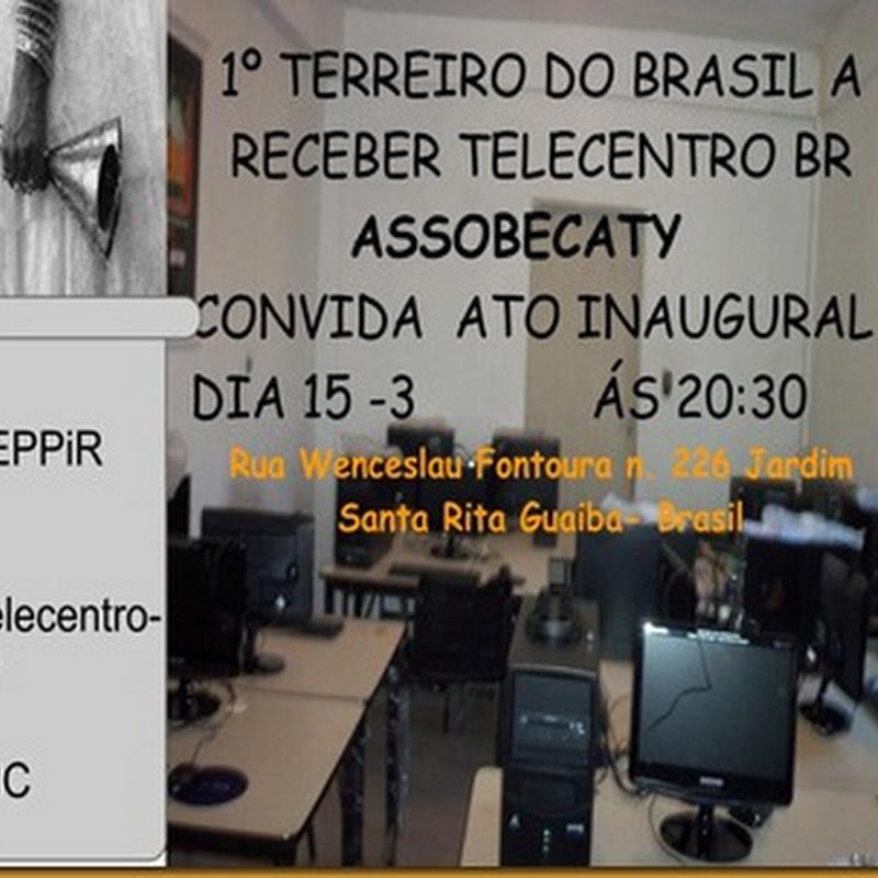 1º Telecentro BR no Axé da ASSOBECATY