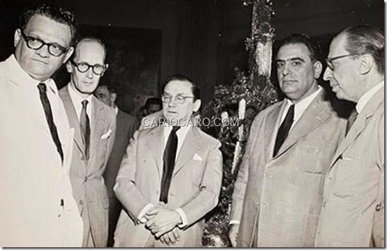 José Lins do Rego, Carlos Drummond de Andrade, Cândido Portinari, José Olympio e Manuel Bandeira