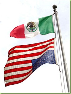 mexican_flag_american_flag_upsidedown