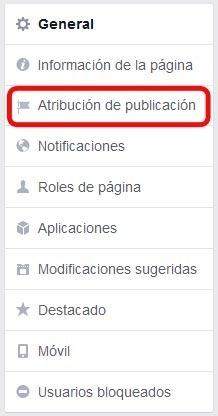 Publicaciones en fanpage con perfil personal - configuración, categorías