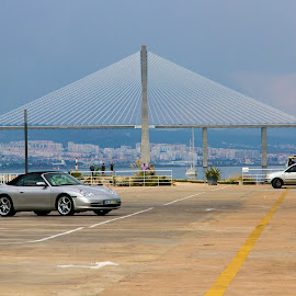 Parking on the dock !!! by Kishu Sing - Transportation Automobiles ( parking, sea, lisbon, portugal, dock )