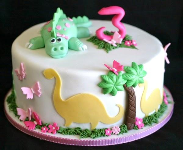 Dinosaur princess cake