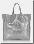 Warehouse Metallic Leather Shopper