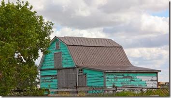 turquiose barn