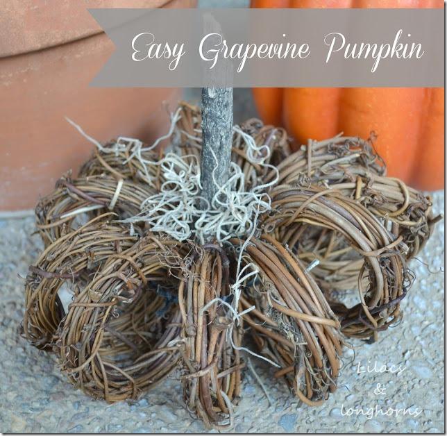 easy grapevine pumpkin
