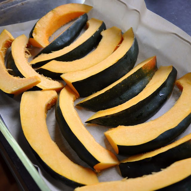 Sweet and Spicy Roasted Acorn Squash Wedges - Pinch and Swirl