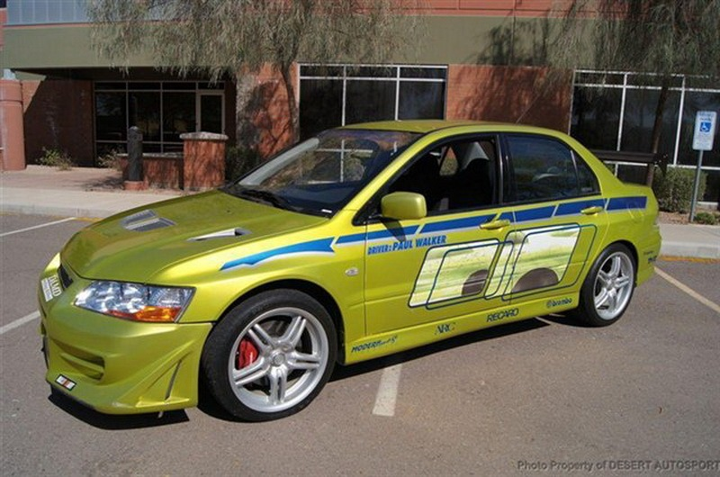 paul walker 39 s mitsubishi evo from 2 fast 2. Black Bedroom Furniture Sets. Home Design Ideas