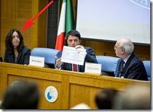 Alessandra Sardoni al fianco di Matteo Renzi